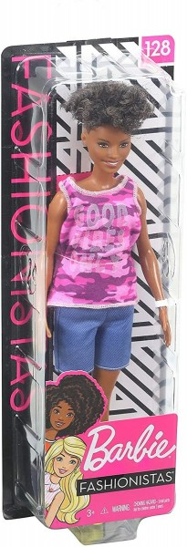 Mattel GHP98 - Barbie - Fashionistas - Puppe mit pinken camouflage Tanktop