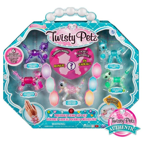 Spin Master 6054476 (20119466) - Twisty Petz - Juwelen 6er-Set, 2-in-1 Armband- & Geschenkset