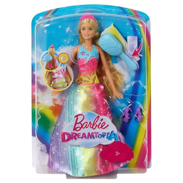 Mattel FRB12 - Barbie Dreamtopia - Magische Haarspiel-Prinzessin