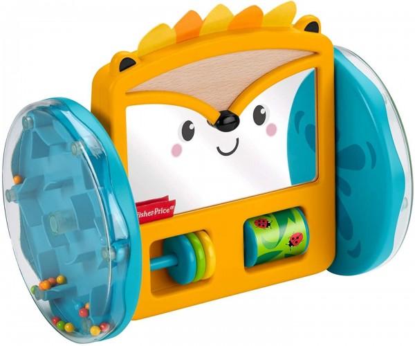 Mattel GJW14 - Fisher-Price - Spiezeug mit Rasselperlen, Rollender Igel-Spiegel