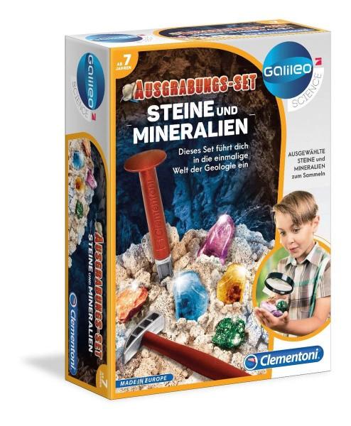 Clementoni 69940 - Galileo - Ausgrabungs-Set - Steine und Mineralien