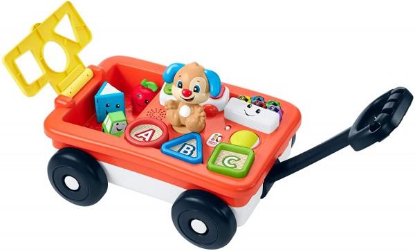 Mattel GHV01 - Fisher-Price - Spiel und Lernwagen, Bollerwagen mit Sound