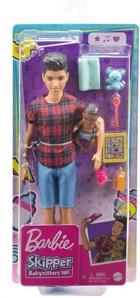 Mattel GRP14 - Barbie - Skipper Babysitters, Jungen-Puppe und Baby-Puppe