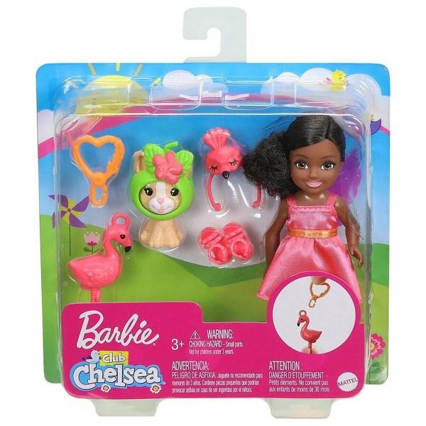 Mattel GJW30-12 - Barbie - Chelsea - Puppe brünett mit Zubehör