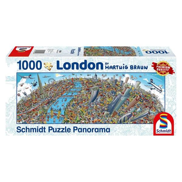 Schmidt 59596 - Premium Quality - Hartwig Braun - Stadtbild London - Panorama Puzzle 1000 Teile