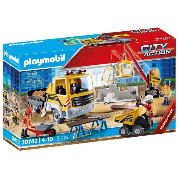 PLAYMOBIL® 70742 - City Action - Baustelle mit Kipplaster