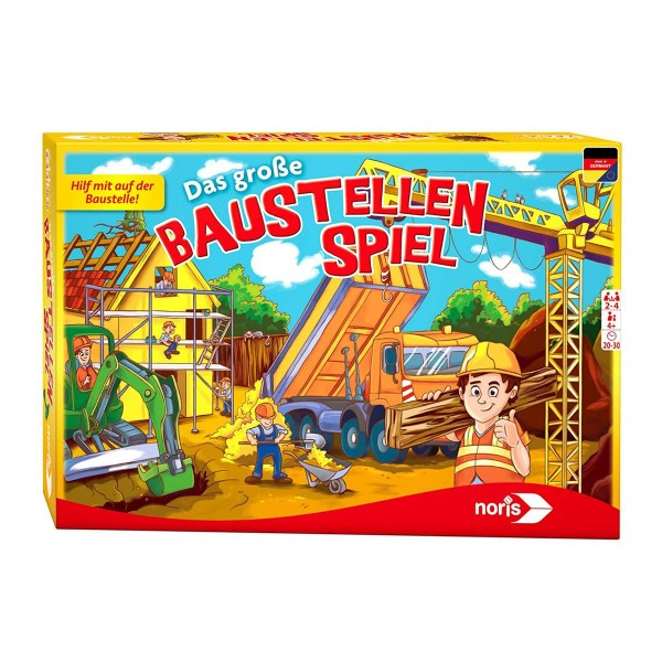 Noris 606011681 - Kinderspiel, Das große Baustellenspiel