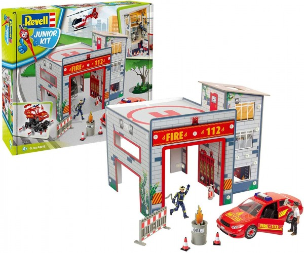 Revell 00850 - Junior Kit - Modellbausatz, Feuerwache