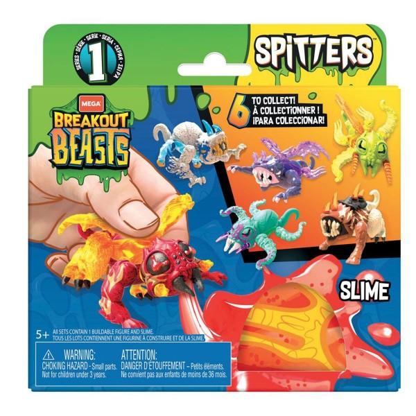 Mattel GGJ55 sort. - Mega Bloks - Breakout Beasts - Spitters, gruselige Schleimfiguren, mehrfach sor