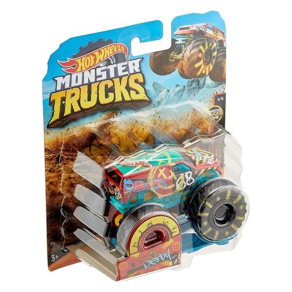 Mattel GNJ62 (GJF05) - Hot Wheels - Monster Trucks - Die-Cast Fahrzeug, 1:64, Demo Derby