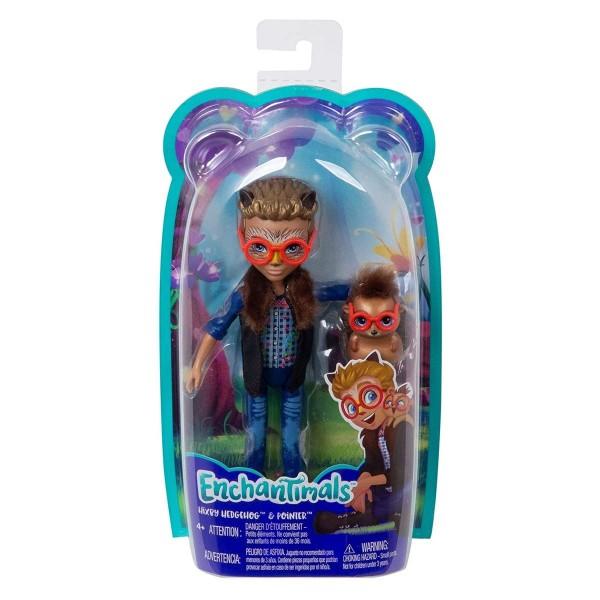 Mattel FJJ22 - Enchantimals - Igelmädchen, Spielfigur, Hixby Hedgehog & Pointer