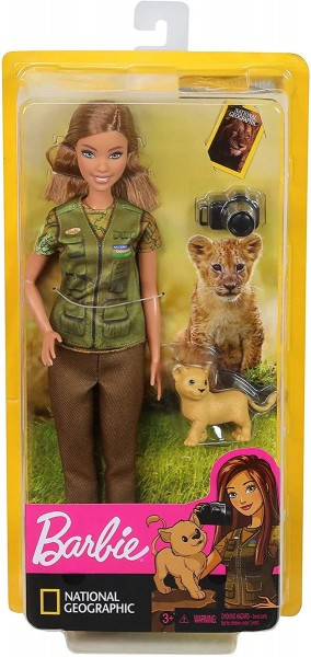 Mattel GDM46 - Barbie - National Geographic - Puppe, Naturfotografin