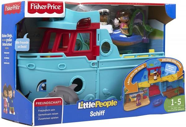 Mattel FXJ47 - Fisher-Price - Little People - Schiff mit Figuren und Zubehör
