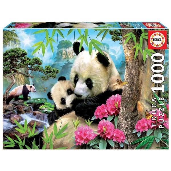 DIV 147995 2.Wahl - Educa - Pandabär Puzzle, 1000 Teile