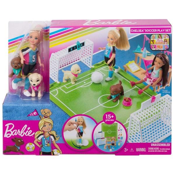 Mattel GHK37 - Barbie - Dreamhouse Adventures - Spielset Chelsea mit Zubehör, Fußball