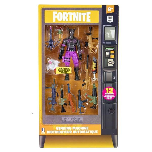 Jazwares FNT0498 - Fortnite - Spielset, Vending Machine mit Figur und Zubehör, 12 Teile, Fallen Love