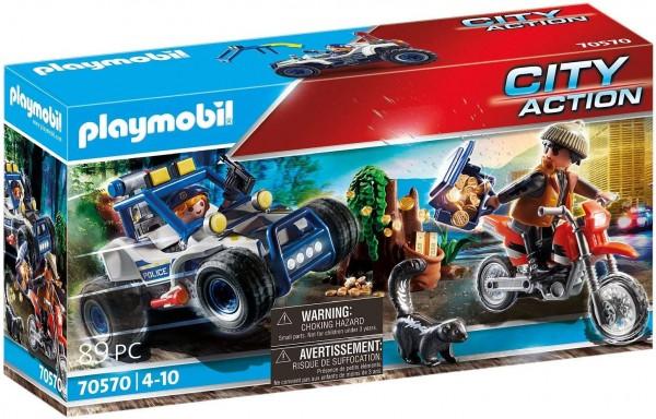 PLAYMOBIL® 70570 - City Action - Polizei-Geländewagen: Verfolgung des Schatzräubers