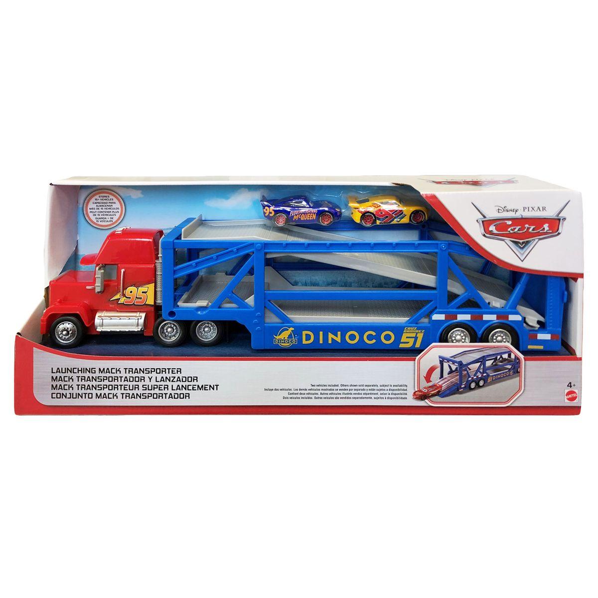 Mattel GKR5   Disney Cars   Auto Transporter   Dinoco Mack Truck inkl. 5  Fahrzeugen
