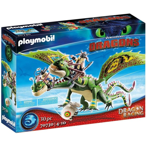 PLAYMOBIL® 70730 - DreamWorks Dragons - Dragon Racing - Raffnuss und Taffnuss mit Kotz und Würg