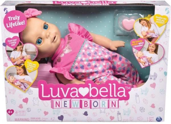 Spin Master 6047317 2.Wahl - Luvabella - interaktive Baby Puppe ca. 35 cm