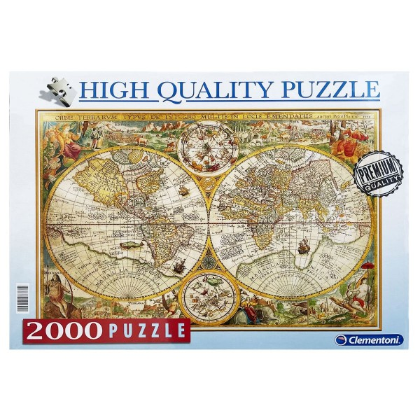 Clementoni 97787 - High Quality Puzzle - Alte Welt, Mappa Antica, 2000 Teile
