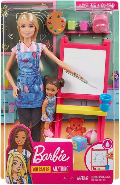 Mattel GJM29 - Barbie - You can be anything - Kunstlehrerin Puppe