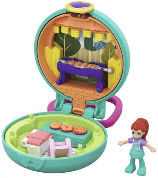 Mattel GKJ43 - Polly Pocket - Mini Schatulle, Lilas Gartenparty