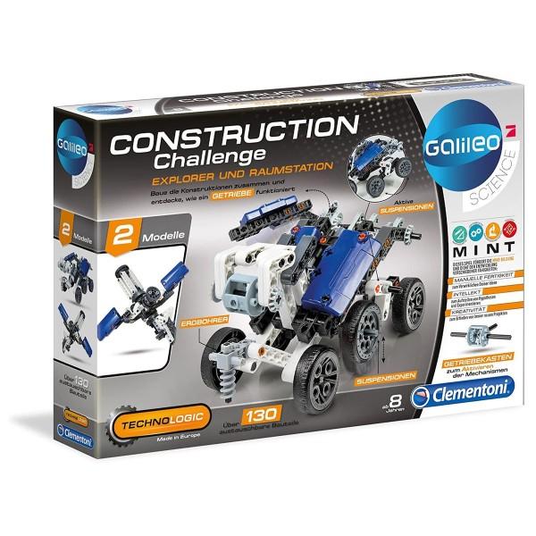 Clementoni 59074 - Galileo Science - Construction Challenge - Experimentierkasten, Explorer und Raum