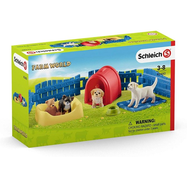 Schleich 42480 - Farm World - Welpenstube