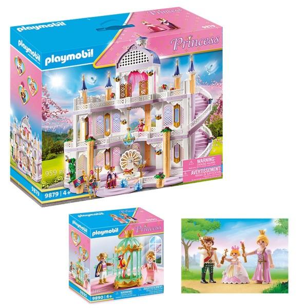 SPAR-SET 182112 - PLAYMOBIL® - Princess - Traumpalast-Set mit tollem Zubehör #9877 + #9890