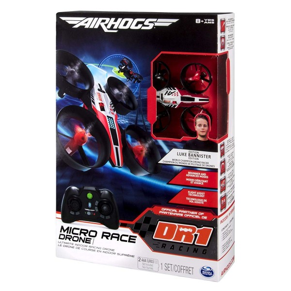 Spin Master 6037691 (20088199) - Airhogs - DR1 Micro Race Drone, Highspeed-Drohne, für coole Stunts