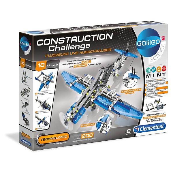 Clementoni 59009 - Galileo Science - Construction Challenge - Bauset, Flugzeuge und Hubschrauber