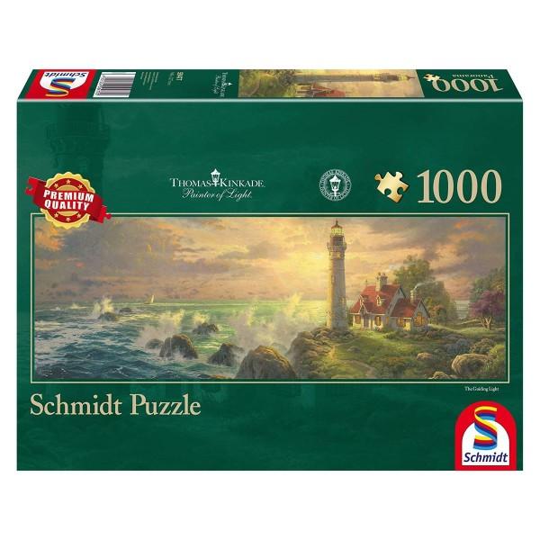 Schmidt 59477 - Premium Quality - Thomas Kinkade -Leuchtturm-Idylle, 1000 Teile Puzzle