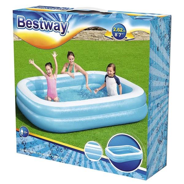 Bestway 54006 - Rechteckiger Familien-Pool, Sea Scene, 262 x 175 x 51 cm