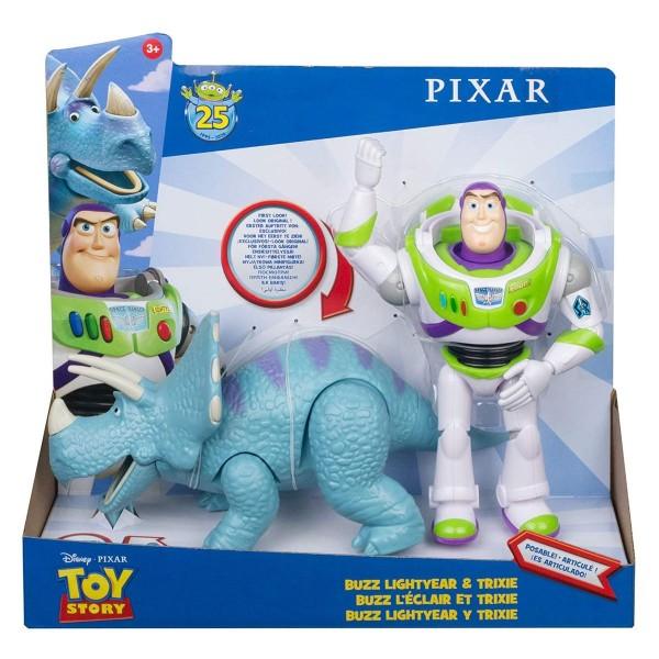 Mattel GJH80 - Disney - Toy Story 4 - Spielset mit 2 Figuren, Buzz Lightyear & Trixie