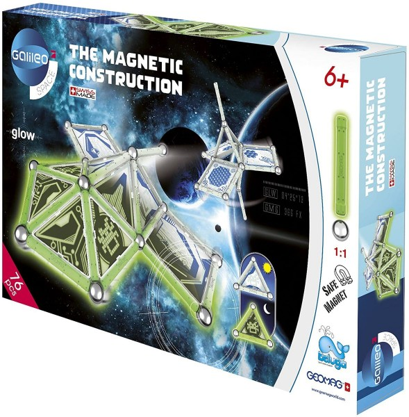 Beluga 62020 - Galileo - Space - Magnetspiele, Glow, 76 Teile, The magnetic construction