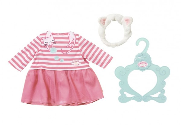 Zapf 701454 - Baby Annabell - My Special Day Outfit, Kleid Katzenberger