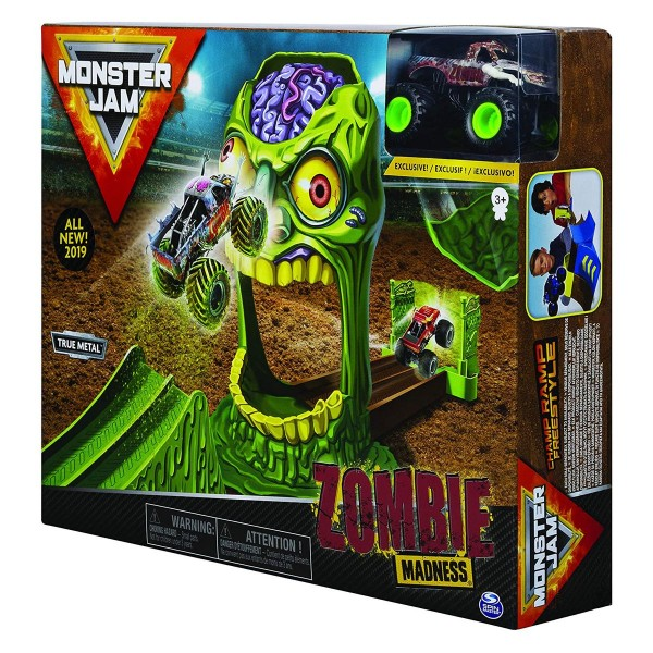 Spin Master 6053298 (20115939) - Monster Jam - Zombie Madness Trackset inkl. Die Cast Fahrzeug