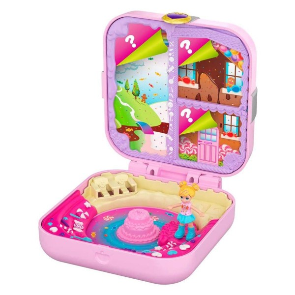 Mattel GKV11 - Polly Pocket - Mini-Spielset, Süßigkeiten Abenteuer