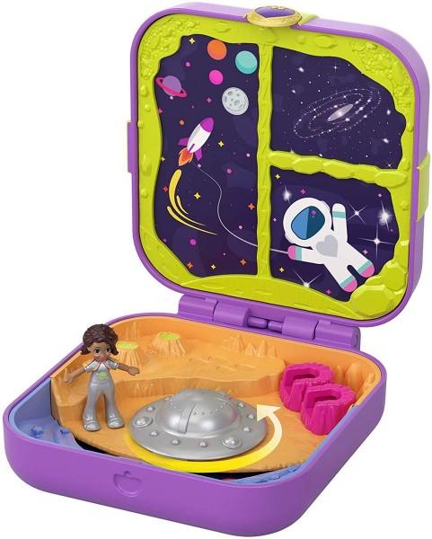 Mattel GDL84 - Polly Pocket - Verborgene Schätze Weltraum Abenteuer Schatulle
