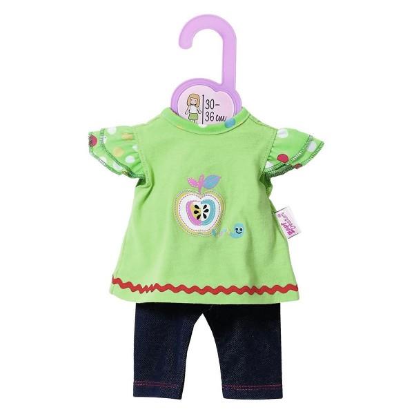 Zapf 870112 - Dolly Moda - Shirt mit Leggings, Gr. 30-36 cm