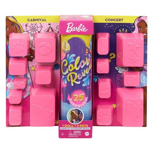 Mattel GPD57 - Barbie - Color Reveal - Puppe mit 25 Überraschungen und Tag-Nacht-Wechseloutfit