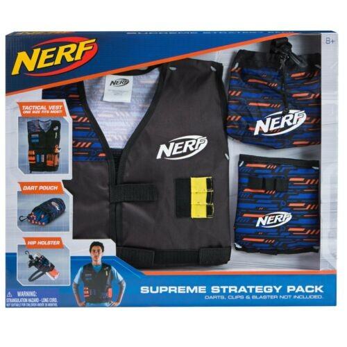 Jazwares 11523 - Nerf - Elite Supreme Strategy Pack, Weste, Dart Beutel, Holster