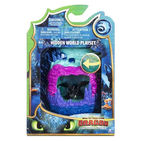 Spin Master 6046846 (20107925) - Dreamworks - Dragons - Spielset, Die geheime Welt mit Ohnezahn