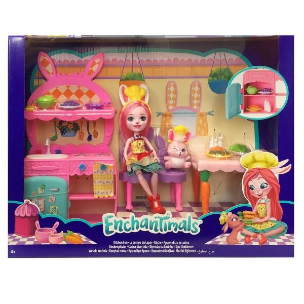 Mattel FRH47 - Enchantimals - Küche mit Bree Bunny & Twist