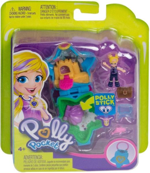 Mattel FRY33 - Polly Pocket - Mini Schatulle, Pollys Aquarium