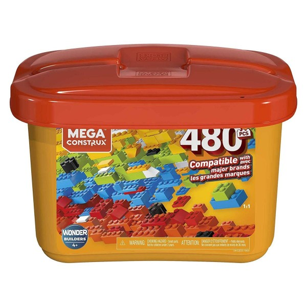 Mattel GJD23 - Mega Construx - Wonder Builders, Bausteine-Box, 480 Teile