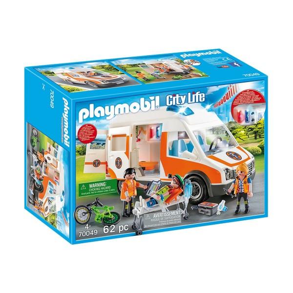 PLAYMOBIL® 70049 - City Life - Rettungswagen mit Licht und Sound