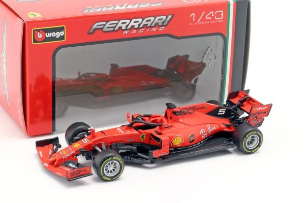 Bauer 18-36815V - Bburago - Modellauto, SF90 Ferrari Racing 2019 (1:43), Sebastian Vettel