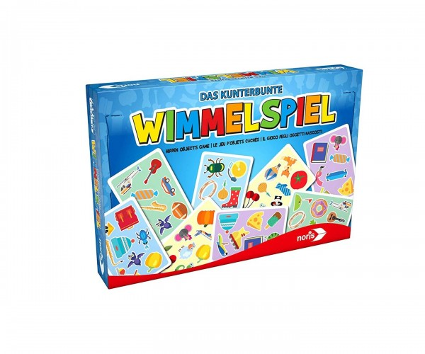 Noris 606041774 GRATIS AB 30 € - Das kunterbunte Wimmelspiel, Kinderspiel